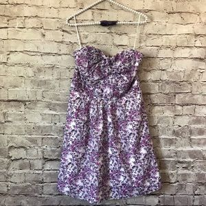Express 8 Lined Floral Sweetheart Sun Dress